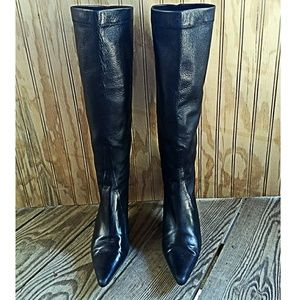 Cole Haan Black Steletto Boots